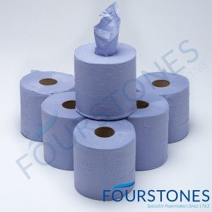 Blue 1ply Embossed Centrefeed