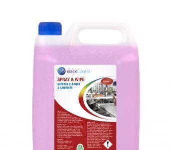 Essex Supplies Spray & Wipe Cleaner Sanitiser 5L