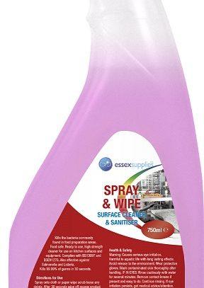 Essex Supplies Spray Wipe Cleaner Sanitiser 750ml (004
