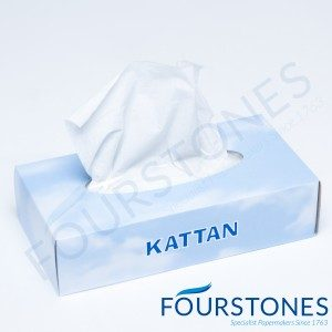 2ply White Facial Tissues x 100 per pack