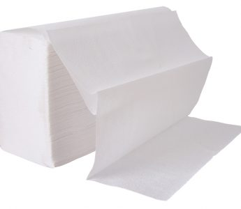 Z-fold white hand towels