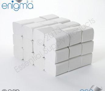 Bulk pack folded toilet tissue