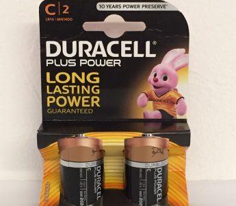 C2 size batteries x2 card