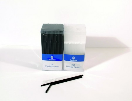 Black Flexi Straws