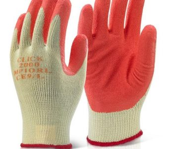 Latex Palm Click Gloves