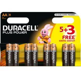 AA Batteries  5 + 3 card