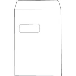 638566-White Box Envelope Pocket Seal Window C4
