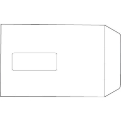 652516- White Box Envelope Pocket Seal Window C5