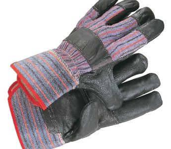 Furniture hide leather palm rigger glove