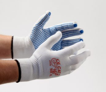 Nylon Inspection Glove PVC dotted