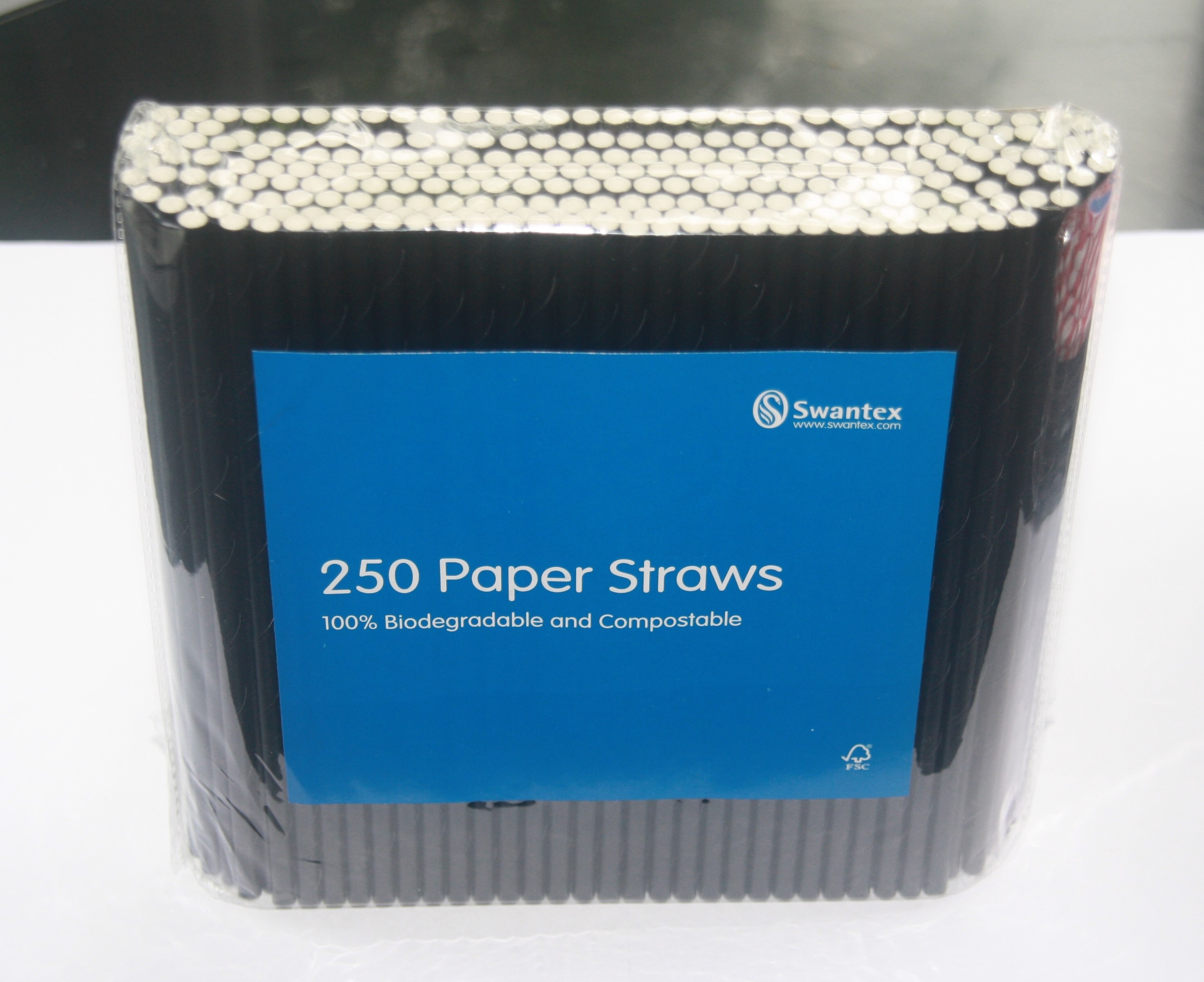 Black Paper Straws 195mm x 5mm