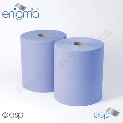 Blue 2ply Industrial rolls